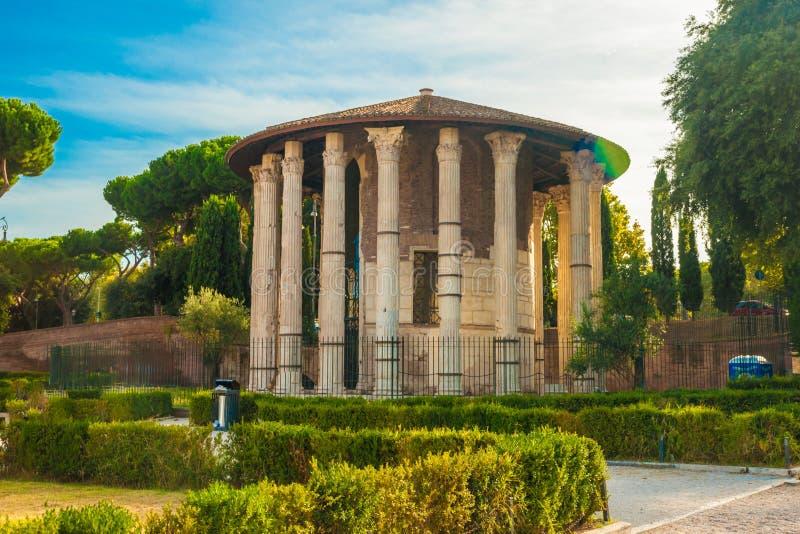 Tempel van Hercules Victor, Rome stock afbeelding
