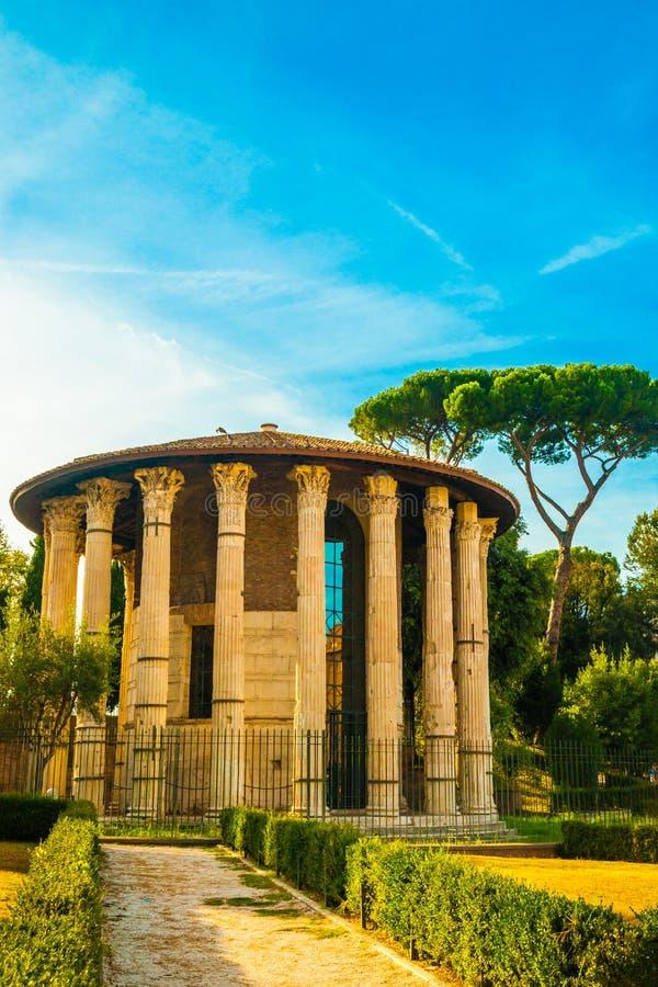 Tempel van Hercules Victor, Rome royalty-vrije stock foto