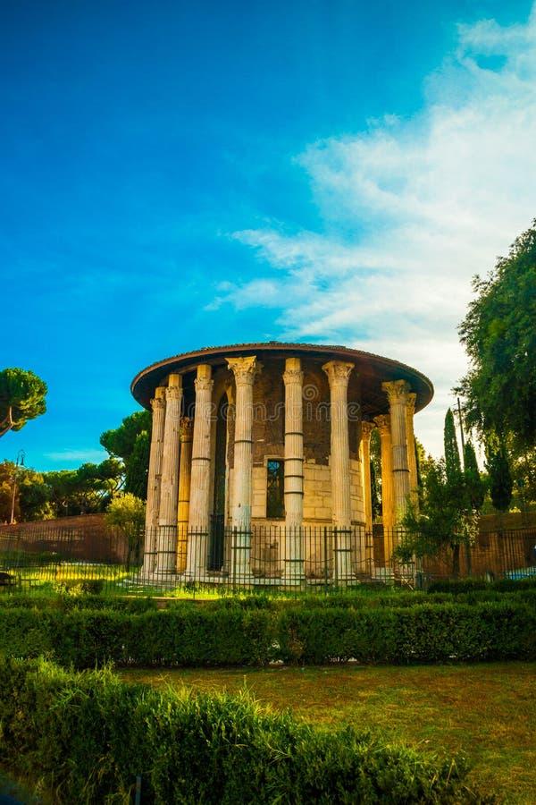 Tempel van Hercules Victor, Rome royalty-vrije stock fotografie