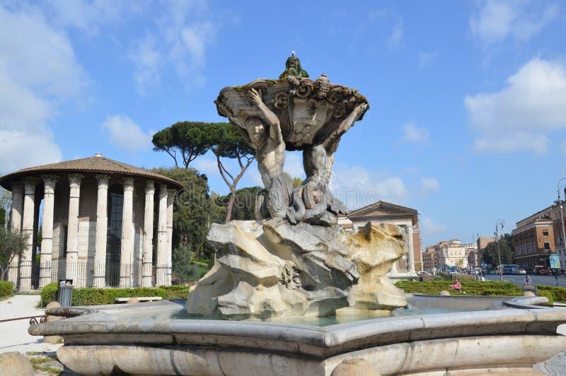 Tempel van Hercules Victor, Rome stock fotografie