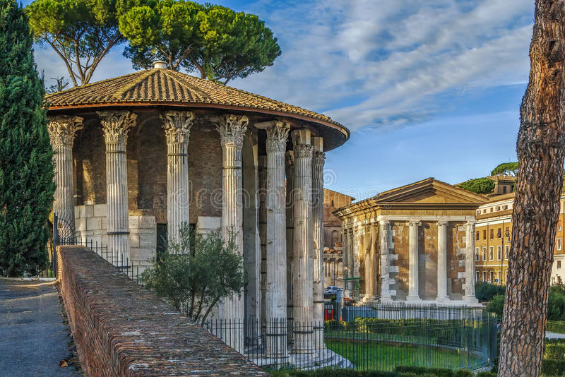 Tempel van Hercules Victor, Rome royalty-vrije stock foto's