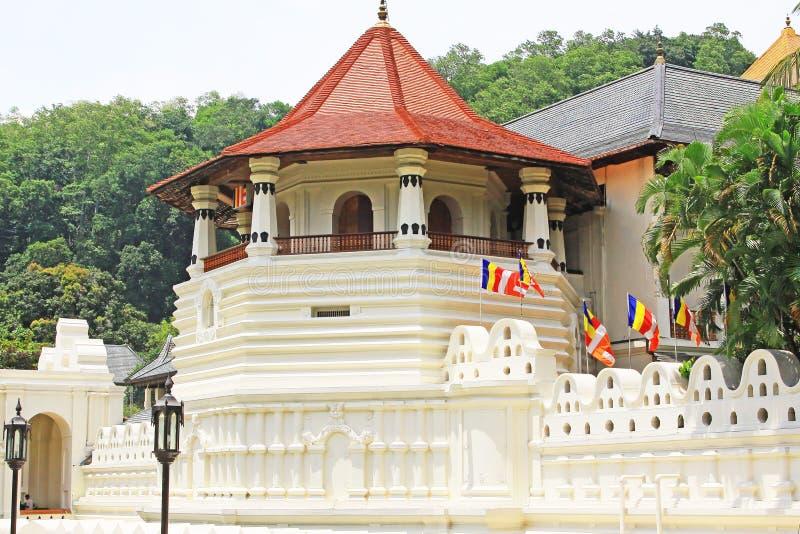 Tempel van het Heilige Tandoverblijfsel, Kandy, Sri Lanka royalty-vrije stock afbeelding