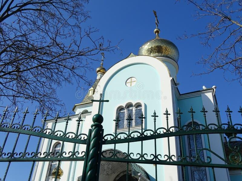 Tempel van het Kazan pictogram van de Moeder van God stock fotografie
