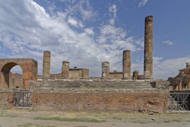 Tempel van Jupiter stock foto