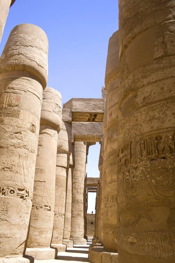 Tempel van Karnak stock afbeeldingen