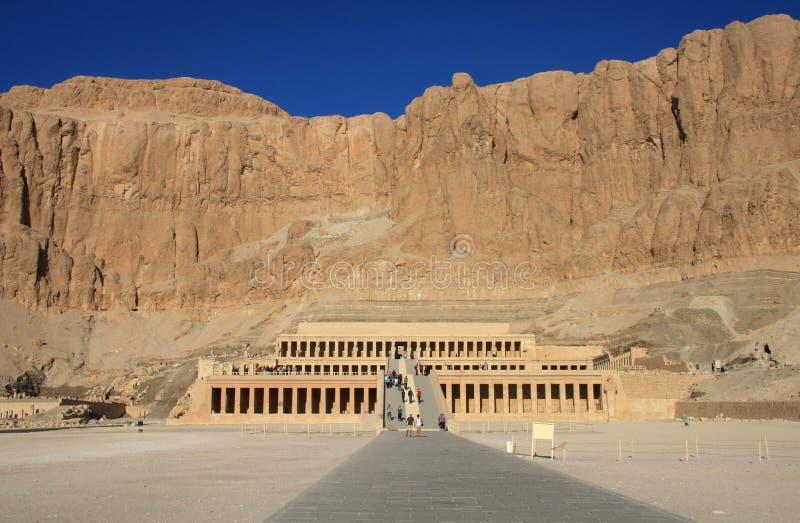 Tempel van Koningin Hatshepsut stock foto's
