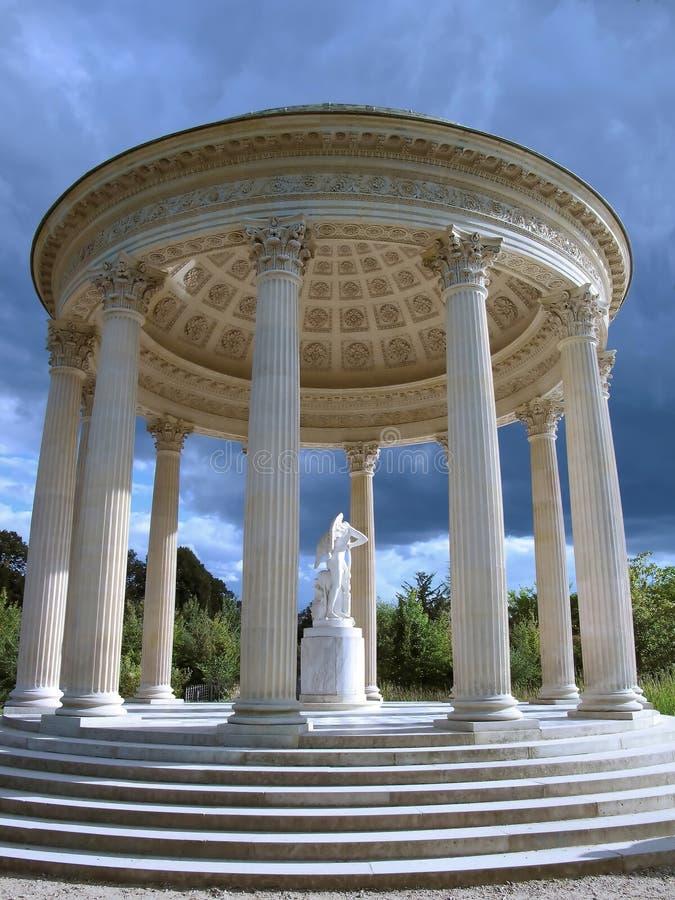 Tempel van liefde bij het paleis van Versailles stock foto