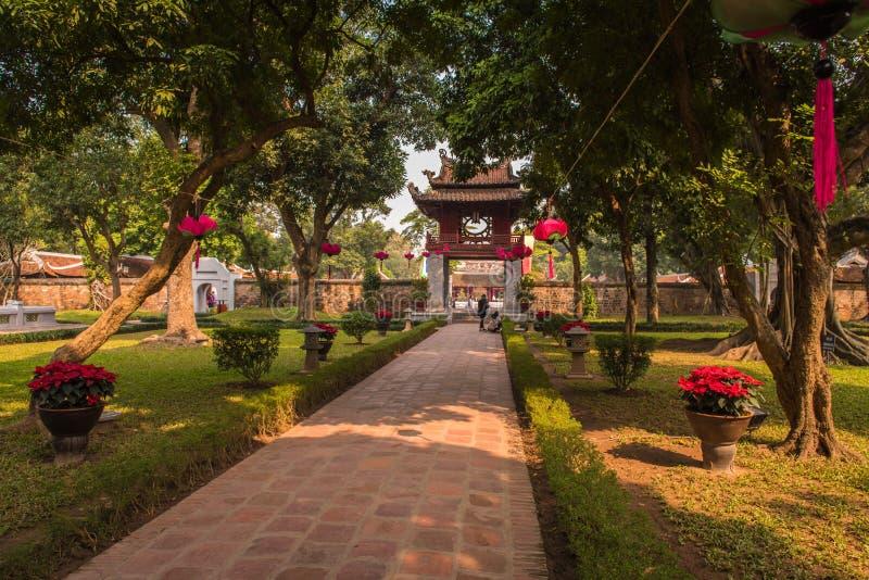 Tempel van Literatuur stock fotografie
