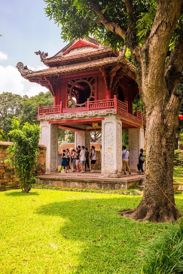 Tempel van Literatuur in Ha Noi stock afbeelding