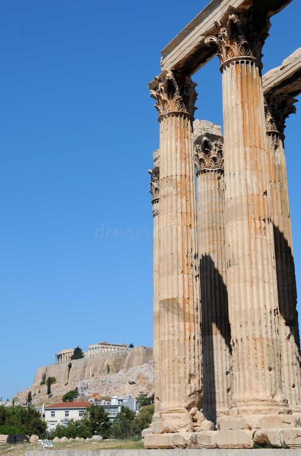 Tempel van Olympian Zeus, Athene royalty-vrije stock fotografie