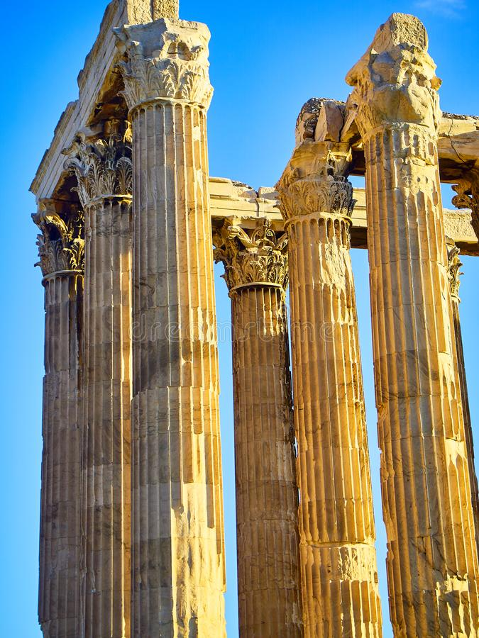 Tempel van Olympian Zeus Athene, Attica, Griekenland royalty-vrije stock foto