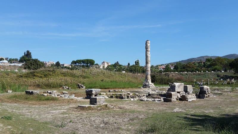 Tempel van Oude wonder van Artmetis van de wereld royalty-vrije stock foto's