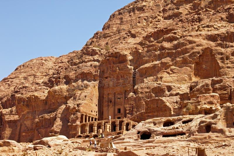 Tempel van Petra stock afbeelding