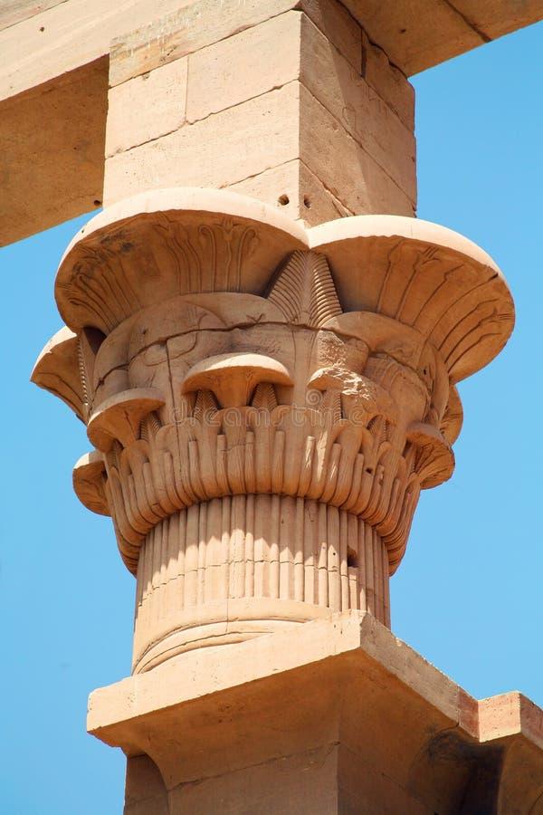 Tempel van Philae in Aswan, Egypte royalty-vrije stock foto