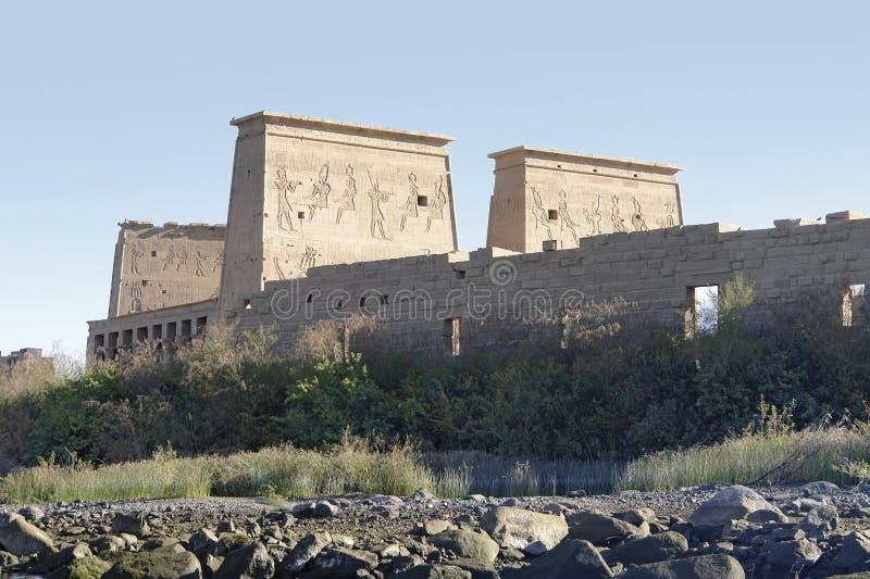 Tempel van Philae in Egypte stock afbeeldingen