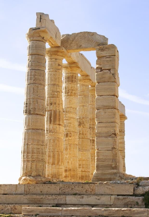 Tempel van Poseidon royalty-vrije stock afbeelding