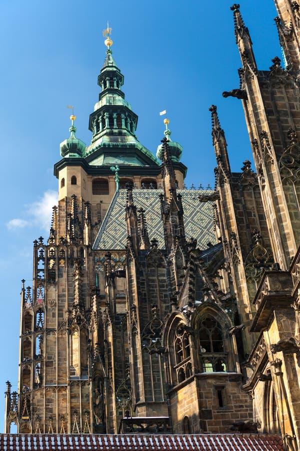 Tempel van St. Vitus in Praag 1 stock foto's