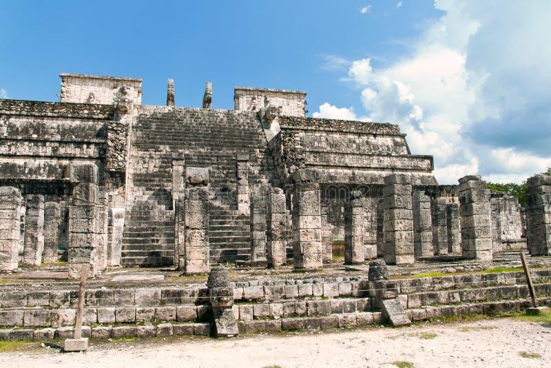 Mayan ruïnes van Chichen Itza, Mexico stock afbeeldingen