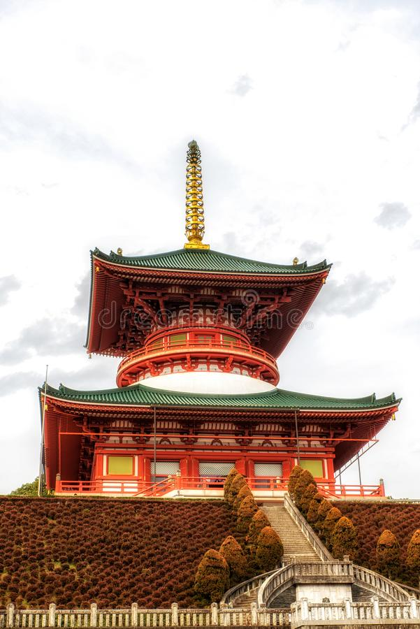 Tempel van Vredespagode, Naritasan-shinshoji boeddhistische tempel, Nar royalty-vrije stock afbeelding