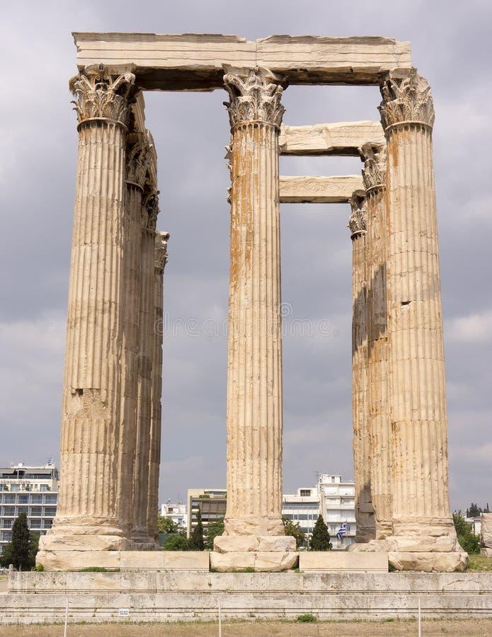 Tempel van Zeus in Athene, Griekenland royalty-vrije stock fotografie