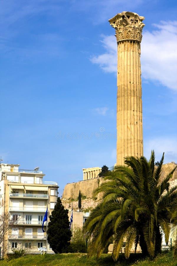 Tempel van Zeus, Olympia, Griekenland stock foto's