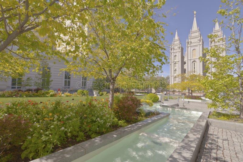 Tempel vierkant Salt Lake City Utah stock afbeelding