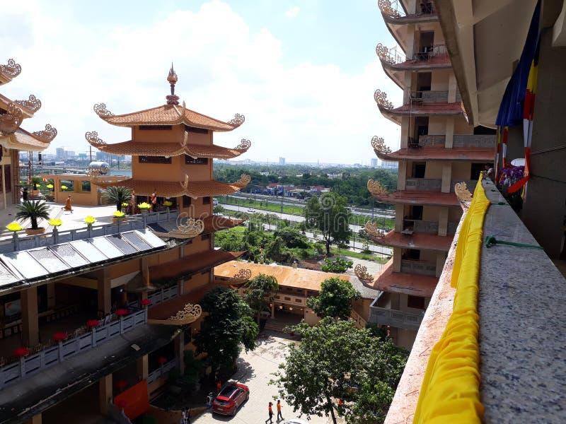 Tempel in Vietnam royalty-vrije stock foto