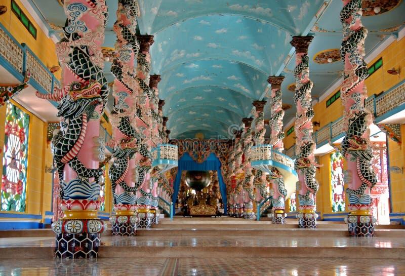 tempel vietnam för cao dai arkivbilder