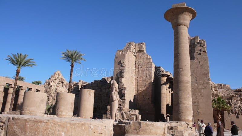 Tempel von Amon. Karnak. Ägypten lizenzfreies stockfoto
