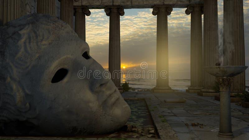 Tempel von Apollo stock abbildung