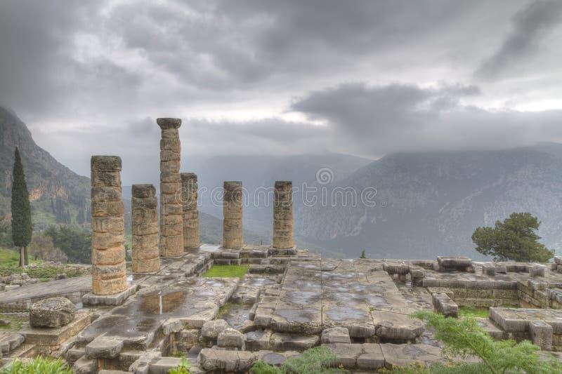 Tempel von Apollo in Delphi stockbild