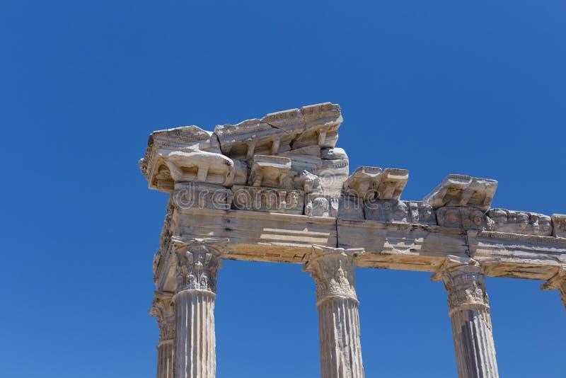 Tempel von Apollo in der alten Seite in der Türkei stockfotografie