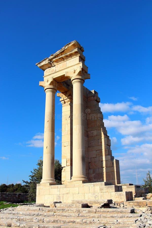 Tempel von Apollo nahe Limassol, Zypern lizenzfreie stockbilder