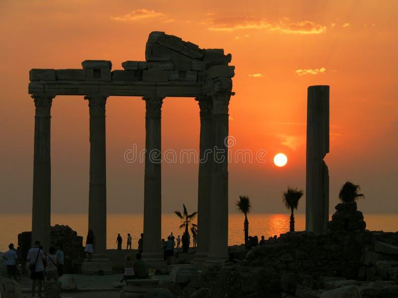 Tempel von Apollo, Seite, die Türkei lizenzfreie stockfotografie