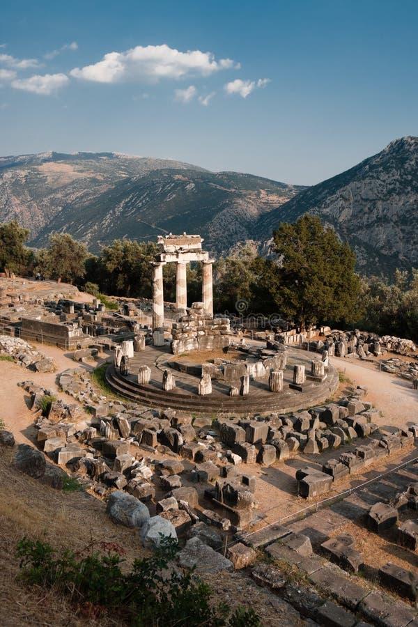 Tempel von Athene in Delphi lizenzfreie stockbilder