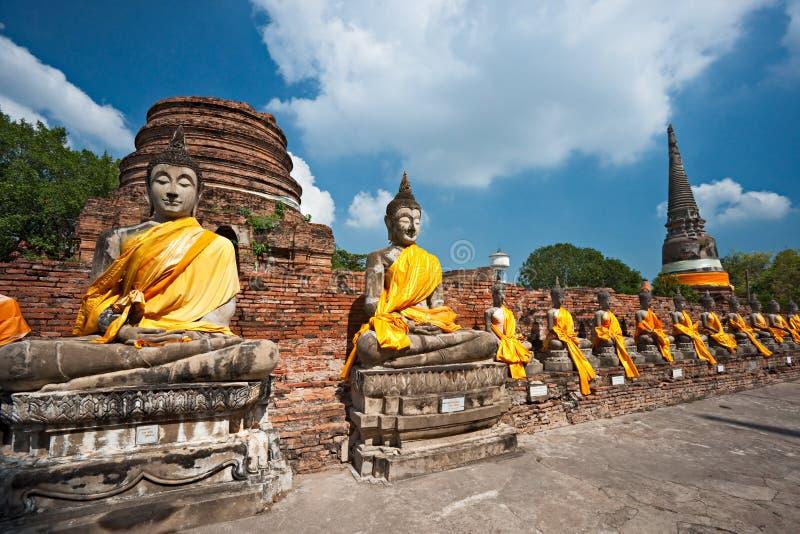 Tempel von Ayuthaya, Thailand, lizenzfreies stockbild