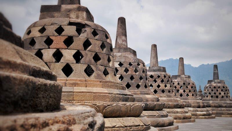 Tempel von Borobudur in Indonesien lizenzfreies stockfoto