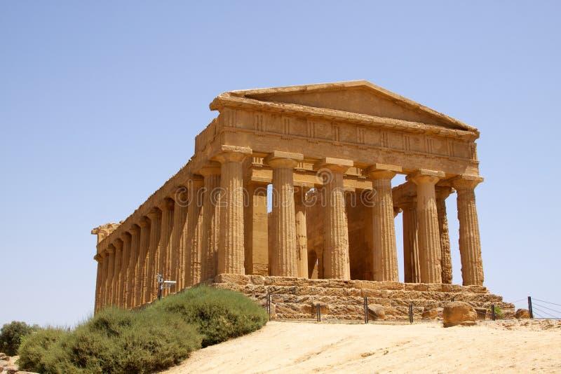 Tempel von Concordia Agrigent stockbilder