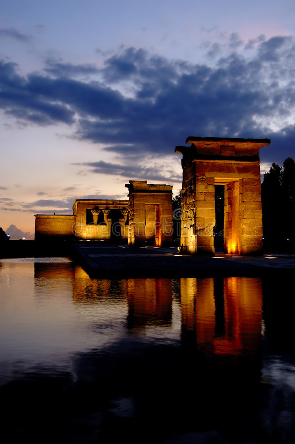 Tempel von Debod in Madrid