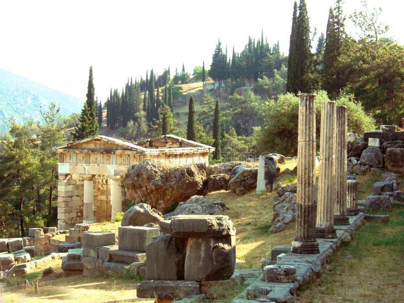 Tempel von Delphi in Griechenland stockbild