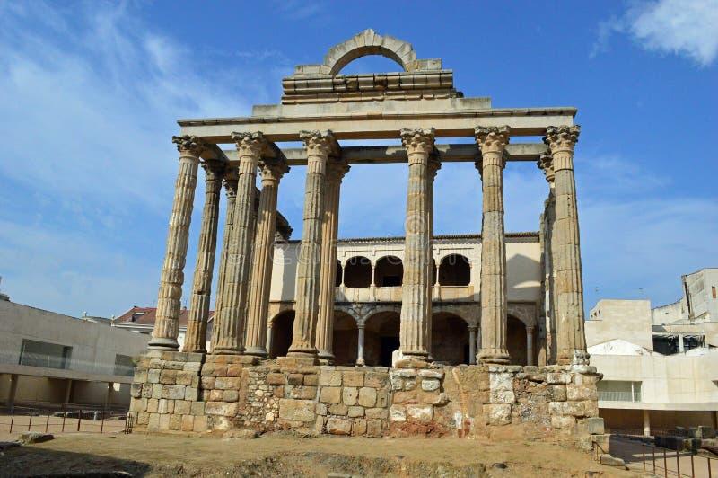 Tempel von Diana, Merida Spain stockfotos
