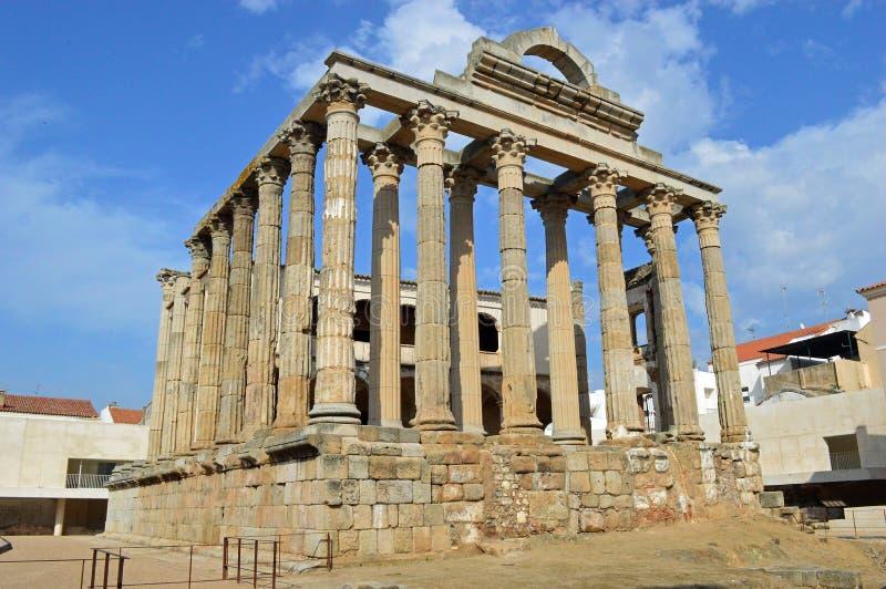 Tempel von Diana, Merida Spain lizenzfreie stockbilder