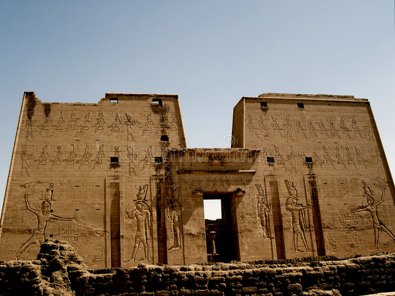 Tempel von edfu lizenzfreies stockfoto