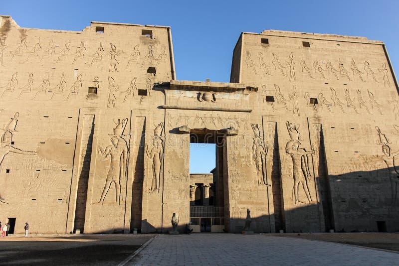 Tempel von Edfu stockbild