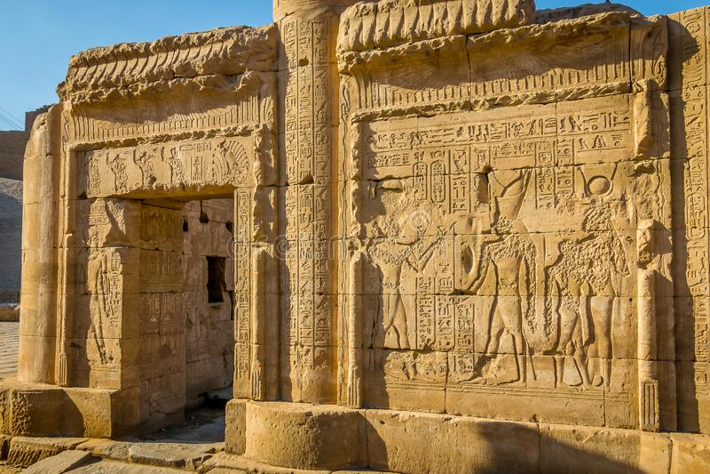 Tempel von Edfu Eingeweiht dem Falkegott Horus Egypt stockfotografie