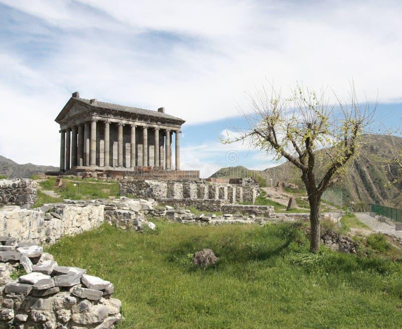 Tempel von Garni lizenzfreies stockfoto