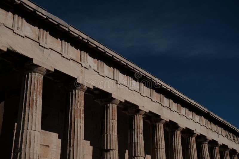 Tempel von Hephaestus stockbilder