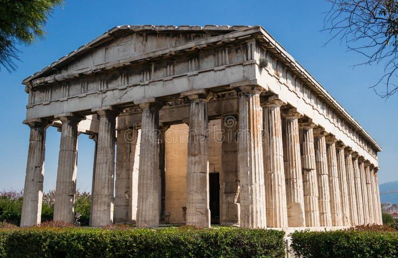 Tempel von Hephaestus in Athen/in Griechenland stockfotografie
