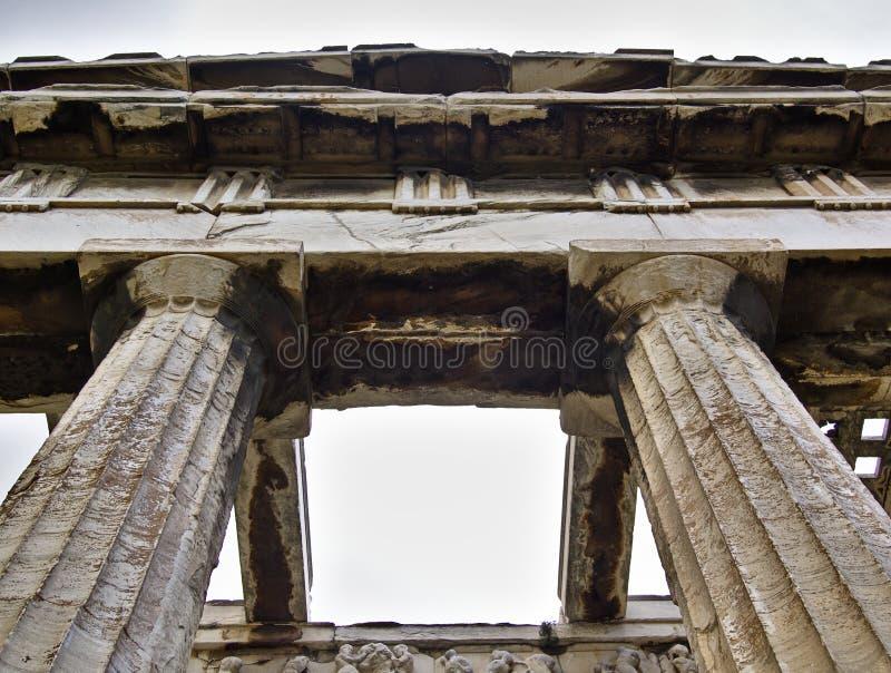 Tempel von Hephaestus in Athen, Griechenland stockbild