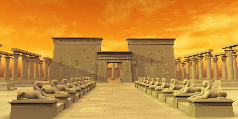 Tempel von isis lizenzfreie abbildung